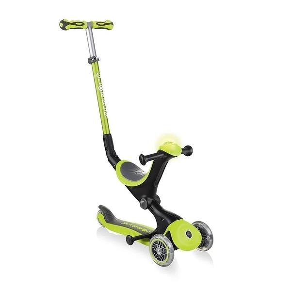 Globber 哥輪步 GO•UP 5合1豪華版滑板車(聲光版)-蘋果綠[衛立兒生活館]