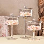 歐式透明玻璃罩蛋糕盤糕點糖果盤防塵罩高腳托盤創意婚慶家居擺件 萬聖節禮物