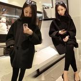 毛呢大衣-中長款時尚寬鬆斗篷蝙蝠袖女風衣外套73ki81【巴黎精品】