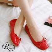 韓系浪漫甜美蝴蝶結漆皮亮面娃娃平底包鞋/35-39碼/3色 (RX0107-20A) iRurus 路絲時尚