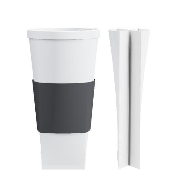 折折杯 20oz/中性灰色杯套【福爾福】