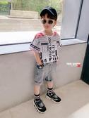 左西男童T恤短袖夏季2020新款兒童半袖韓版個性男孩中大童夏裝潮