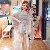 防曬衫罩衫夏裝新款女裝時尚條紋流蘇鏤空寬鬆套頭防曬衣針織罩衫冷氣衫