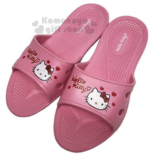 〔小禮堂〕Hello Kitty 極輕防滑塑膠拖鞋《淡粉.愛心》室內拖鞋.浴室拖鞋 713052-38961