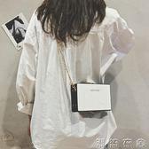 小包包女新款個性撞色單肩小方包鏈條百搭斜背包盒子包潮 潮流衣舍