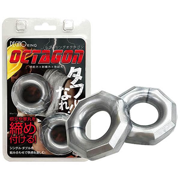 日本A-one OCTAGON 八角形螺帽矽膠雙環