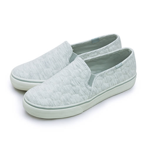 LIKA夢 Keds 時尚韓風經典款帆布鞋 DBL DECK QUILTED 系列 淺灰 131881 女