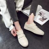 小白鞋 春季新款韓版魔術貼小白鞋女平底學生休閒跑步運動單鞋子板鞋 伊羅鞋包