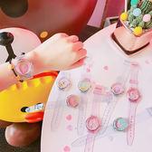 可愛少女心夏日百搭休閒小清新水果軟妹透明手錶韓風草莓學生腕錶