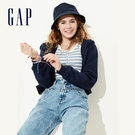 Gap 女童 簡約風格純色連帽外套 575098-海軍藍色