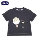 chicco-皇家時尚-短袖上衣-灰色