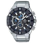 【CASIO】 EDIFICE 超強悍鎖螺絲錶圈不鏽鋼錶-銀X黑圈(EFR-569DB-1A)