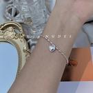 手鐲 S925銀甜美小米粒愛心 少女日韓森系簡約清新個性氣質手鍊手鐲 晶彩