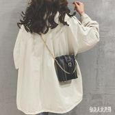 時尚感小包女新款韓版百搭迷你水桶包鏈條斜挎單肩包潮 yu4963『俏美人大尺碼』