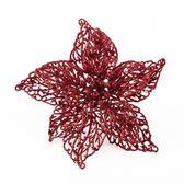 裝飾花夾 亮片紅 20cm