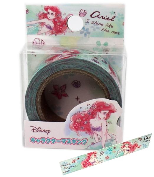 【卡漫城】 小美人魚 紙膠帶 綠 ㊣版 mermaid 愛麗兒 Ariel 筆記本 貼紙 膠帶貼 包裝 創意貼 裝飾貼