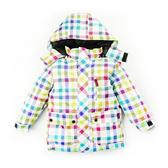 兒童彩色格子防風防潑水雪衣 滑雪衣 保暖厚外套夾克 橘魔法 兒童保暖滑雪裝 滑雪 雪衣