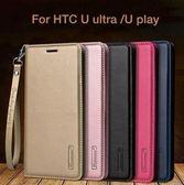 【SZ22】HTC U Ultra 手機皮套 hanman韓曼 HTC U -1W保護套 手機套翻蓋式插卡皮套