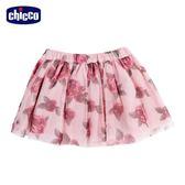 chicco-皇家玫瑰系列-印花網紗短裙-粉