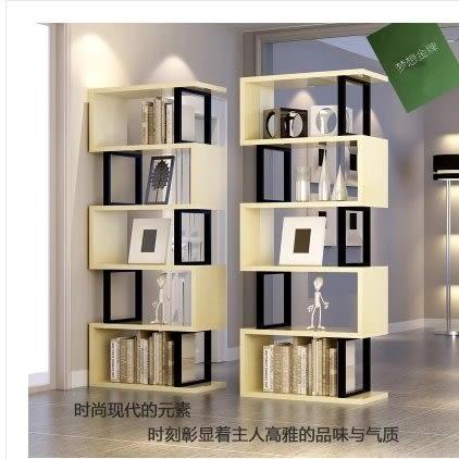 簡約現代書架簡易居家書櫃辦公室置物架落地客廳隔斷櫃書房儲物   (下標前請聯繫客服)
