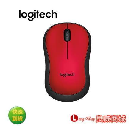 免運~ Logitech 羅技 M221 靜音無線滑鼠 紅色
