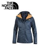 【The North Face 女款 兩件式化纖外套《深藍》】364940Q/戶外運動/防風透氣