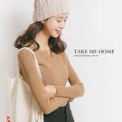 上衣 超柔軟V領合身針織衫-8色-TMH