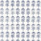 進口牆紙[marimekko] 53cm×10m/卷 玫瑰花壁紙 藍色 北歐風牆紙 PIKKU RUUSU   117945