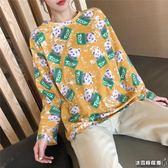 長袖t恤 女裝韓版寬松百搭上衣服潮打底衫