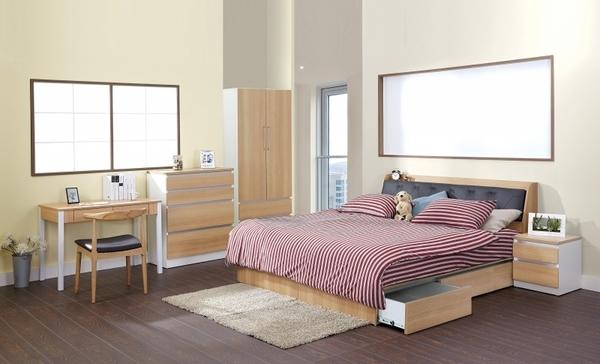 艾美爾系統床組系列 / 下掀皮革6尺床頭箱 /北美橡木【HG】