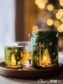 燭臺 掬涵Christmas圣誕節日新年燭臺風燈燭杯溫暖擺件浪漫情調網紅INS 榮耀