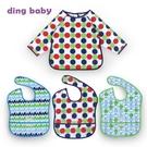 【盒裝】ding baby 防水圍兜3+1件組-男圓點 B-928163-00-FF