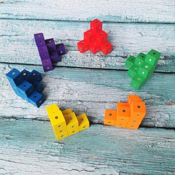磁性彩色正方體積木六面