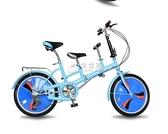腳踏自行車親子車母子車折疊自行車雙人座自行車女式變速母嬰單車 俏女孩