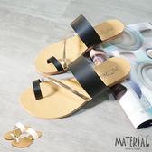 拖鞋 金屬飾條套指涼拖鞋 MA女鞋 T1178