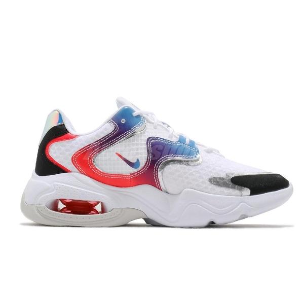 【六折特賣】Nike 休閒鞋 Wmns Air Max 2X 白 藍 女鞋 Have A Good Game 電動主題設計【ACS】 DC0837-190