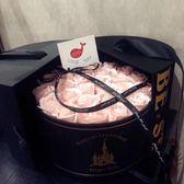 魔法城堡鮮花包裝材料絲綢材質鮮花禮品可拆分圓禮盒 概念3C旗艦店