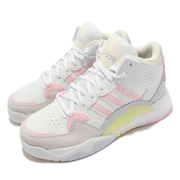 adidas 休閒鞋 5TH Quarter 白 粉紅 黃 女鞋 高筒 愛迪達 運動鞋 【ACS】 FY6640
