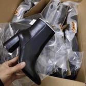 尖頭靴 西班牙B**shka新款尖頭粗跟馬丁靴女短靴單靴時裝百搭舒適女靴子 阿卡娜