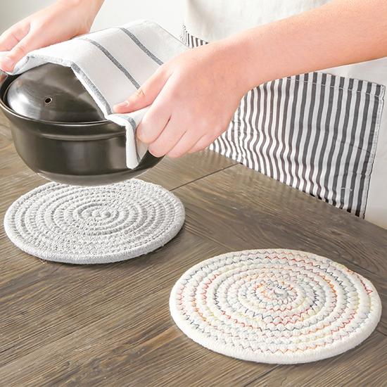 圓形日式棉質隔熱墊(大號) 多功能 餐桌墊 碗墊 盤子墊 鍋墊 杯墊 簡約 【N440】MY COLOR