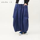 a la sha+a 幾何剪接特殊打摺褲裙