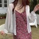 夏季2021新款防曬衣女小披肩配裙子薄款長袖外搭雪紡開衫上衣外套「時尚彩紅屋」