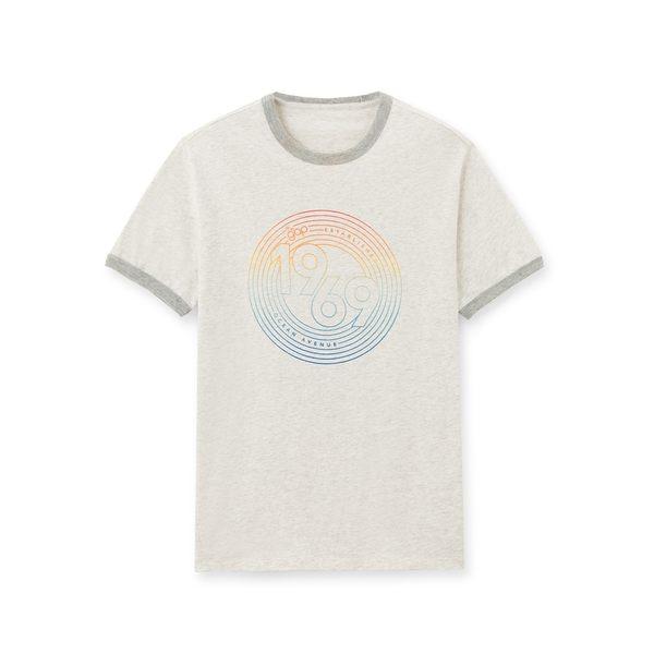 Gap男裝 Logo純棉圓領短袖T恤 467513-石楠灰