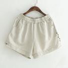 L短褲 簡約民族風三色-月兒的綺麗莊園