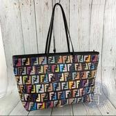 BRAND楓月 FENDI 芬迪 8BH185 彩色LOGO 購物包 托特包 手提包