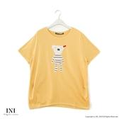【INI】注目吸睛、好可愛小熊熊上衣.黃色