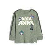 Gap男幼童 星球大戰系列長袖圓領T恤496338-花旗松綠色