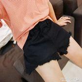 女童短褲 潮純色韓版女童休閒牛仔短褲中大童兒童時尚熱褲子 傾城小鋪