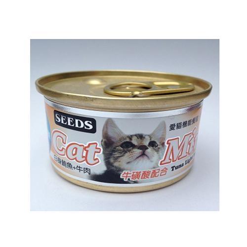 SEEDS愛貓機能餐罐(鮪魚+牛肉)/85g【愛買】