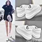 現貨5折-厚底鞋內增高小白鞋女春款新 36/白色單款 11.26